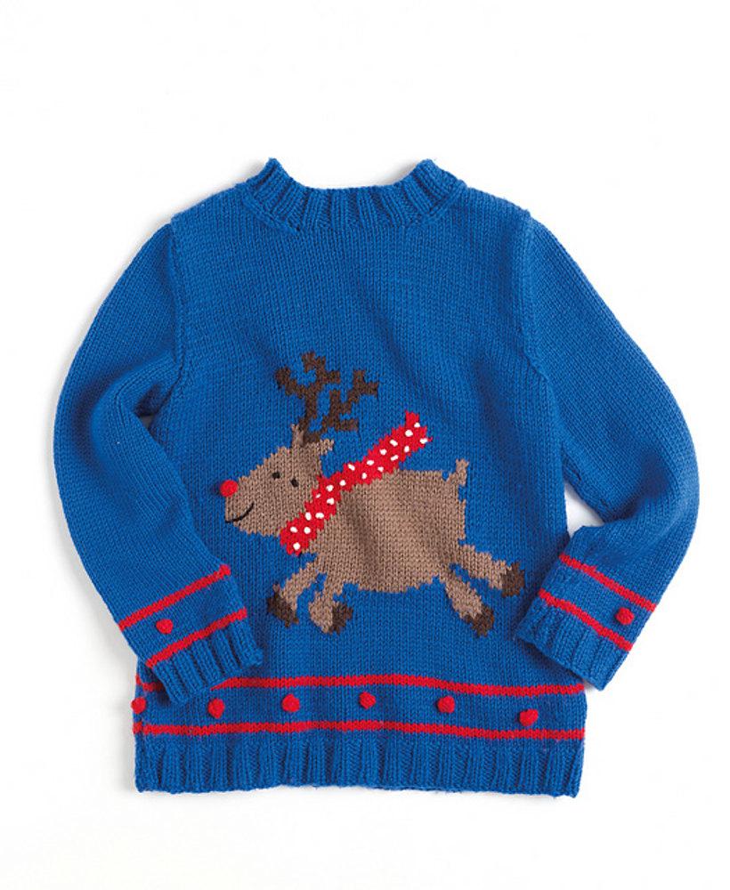 gestrickter weihnachtspullover